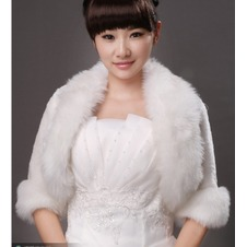 Scialle da sposa Eleganti Autunno Bianco Campana Piume Giacca