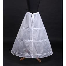 Da sposa sottoveste Lungo Standard Semplice Stringa Tre cerchi Taffetà di poliestere