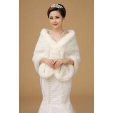 Scialle da sposa Spessore Inverno Caldo Formale Bottone all'aperto