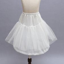 Da sposa sottoveste Filato doppio Bambini si vestono Elastico in vita Bianco