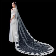 Velo da sposa bianco avorio puro velo da sposa di fascia alta in pizzo applique lungo 3 metri accessori da sposa velo