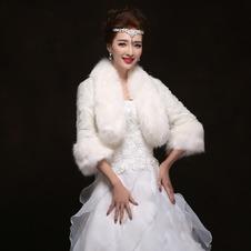 Scialle da sposa Giacca Maniche Lunghe Primavera Campana Abbigliamento pellicce