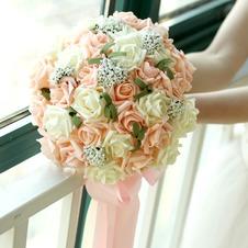 Mazzo di fiori 30 della sposa che tiene matrimonio damigella d'onore rosa champagne fiore