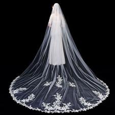 Velo da sposa in pizzo di alta qualità Velo da sposa lungo 3 metri con accessori da sposa a pettine