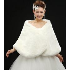 Scialle da sposa All Aperto Spessore Inverno Bianco Lungo Semplici