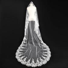 Velo da sposa Autunno Affascinante Applique Abito da sposa dea Bianco