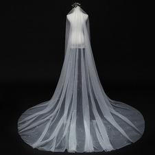 Velo di perle sposa principessa semplice velo bianco 3M