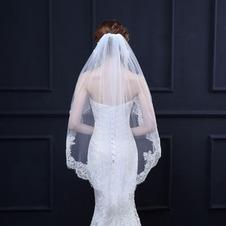 Velo da sposa velo corto in pizzo con accessori da sposa in velo a pettine in metallo