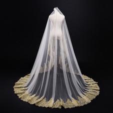 3M Velo di pizzo dorato Cattedrale Velo da sposa Velo da sposa Accessori da sposa