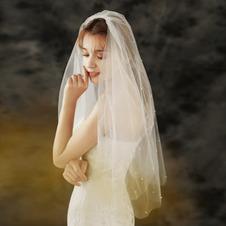 Semplice velo da sposa sposa copricapo da sposa studio fotografico velo per foto velo doppio ordine perla