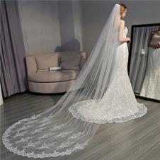 Velo da sposa velo da trascinamento pizzo squisito velo capelli pettine accessori da sposa