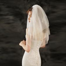 Accessori da sposa da sposa con velo a rete abbronzante squisita
