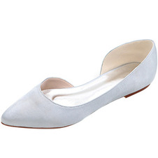 Scarpe a punta Scarpe basse in raso Scarpe da ballo casual da donna
