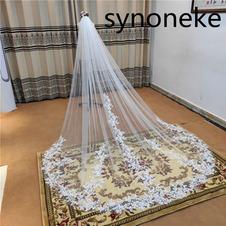 Velo da sposa in pizzo velo avorio con pettine velo di pizzo bianco a rete singolo strato 3M