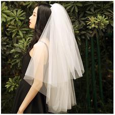 Semplice velo corto da sposa velo da soffio velo corto