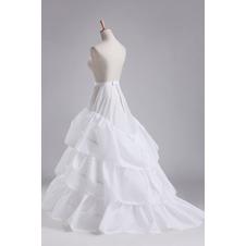 Da sposa sottoveste Tre cerchi Taffetà di poliestere Lungo Classico Abito da sposa