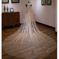Velo lungo lussuoso velo da sposa sposa velo da sposa bling