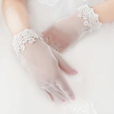Guanti da sposa Estate Breve Appropriato moda in pizzo Pieno finger
