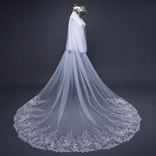 Squisito velo di pizzo con paillettes velo da sposa velo da sposa accessori da sposa