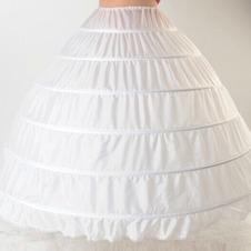 Da sposa sottoveste Espandere Lungo Nuovo stile Sei cerchi Taffetà di poliestere