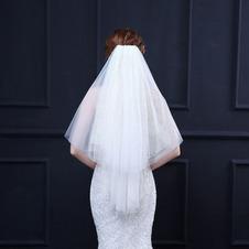 Velo corto a rete con pettine semplice velo velo a rete grande accessori da sposa