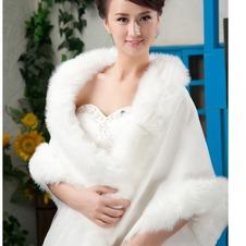 Scialle da sposa Classe All Aperto Bottone Bianco Caldo Inverno