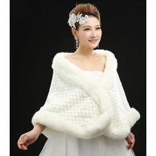 Scialle da sposa all'aperto Bianco trendiness Floreale di cristallo pin