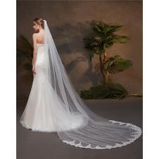 Velo da sposa in pizzo boutique velo monostrato con accessori da sposa pettine per capelli