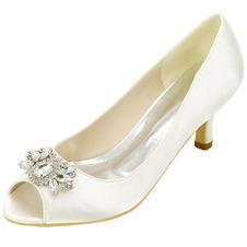 Scarpe da banchetto con strass tacco alto moda scarpe da banchetto in raso scarpe da sposa