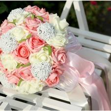 Apparecchio di filato di simulazione 30 con le rose bouquet sposa tutto il cielo stellato