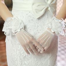 Guanti da sposa Autunno Sottile Breve Fiore multifunzionale completo