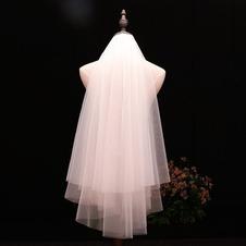 Velo da sposa semplice velo con capelli pettinati velo bianco avorio corto