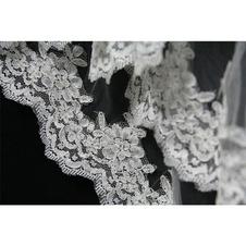 100CM Bridal Veil Pizzo Short Veil Accessori per matrimonio