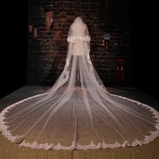 Grande velo da sposa in pizzo lungo velo da sposa