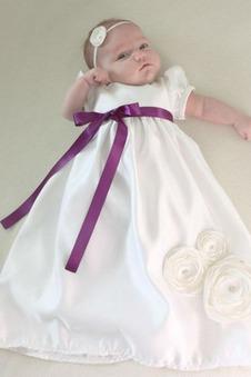 Abito cerimonia bambina Farfalla Ornamento pallone Super Satin alta vita/cintola