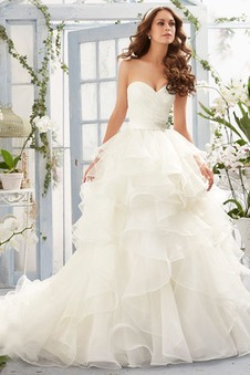 Abito da sposa Romantici Gonna lunga Ball Gown Gioielli di cristallo