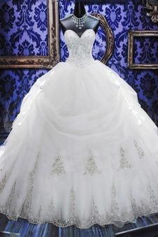 Abito da sposa Senza Maniche a linea Chiesa Lungo Formale Caduta