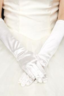 Guanti da sposa Pieno finger Primavera Spessore Caldo Chiesa taffettà di cotone