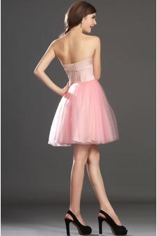 Abito da ballo tessuto Mini gonna Perla rosa in pizzo Principessa