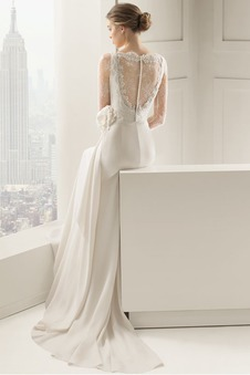 Abito da sposa Estate Fiore All Aperto Quanto inobtrusive Shiena Sheer