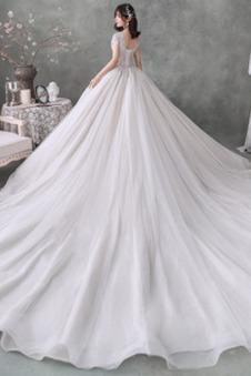Abito da sposa Inverno V-Scollo All Aperto Lusso Non Specificato Allacciato
