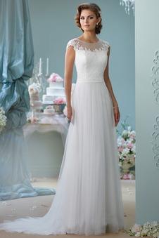 Abito da sposa decorato completo Tulle Lungo A-Line Cappellini
