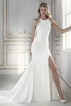 861a7574afc0 Abito da sposa decorato Non Specificato Super Satin Perline Naturale ...