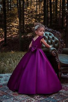 Abito cerimonia bambina Inverno Cerniera A Terra Formale Tipo standard A-Line