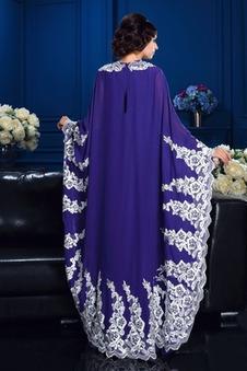 Abito mamma sposa Eleganti Alle Caviglie Maniche Larghe Applique Reale vita alta