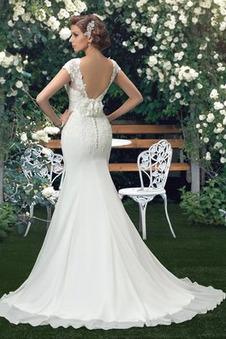 Abito da sposa Pizzo Naturale trendiness Tubino Rosetta accentato