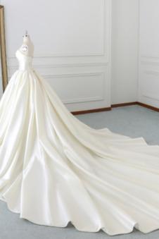 Abito da sposa Eleganti Primavera Senza Maniche senza spalline Raso