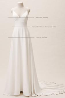 Abito da sposa Semplici Collo drappeggiato A-Line Chiffon Triangolo Invertito