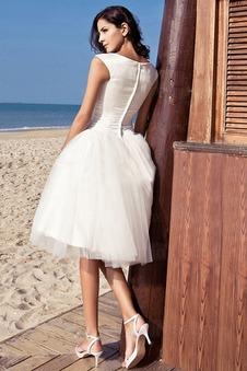 Abito da sposa Ball Gown Cerniera Raso elastico Cappellini Puffy Affascinante