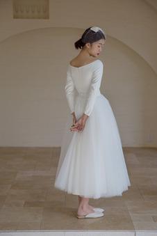 Abito da sposa A-Line Maniche Lunghe Cerniera Oscillare Fuori dalla spalla